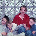Photo of me and my three boys, 2004.